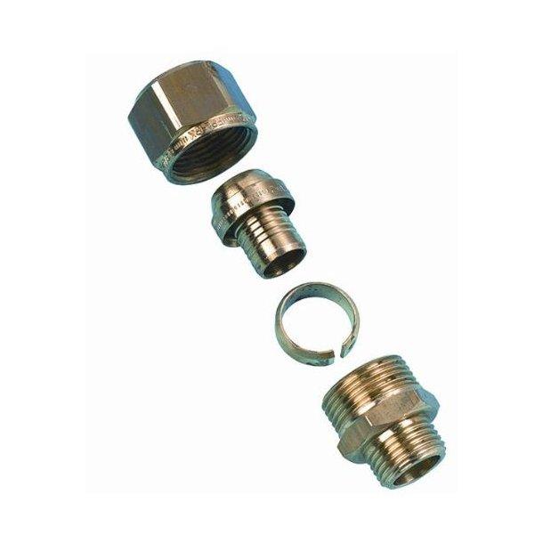 Overgangsnippel til varmerør 6 bar-25x2,3mm x 3/4