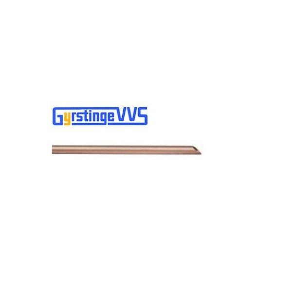 Kobberrør hård, 6-1,0 mm - 5 m