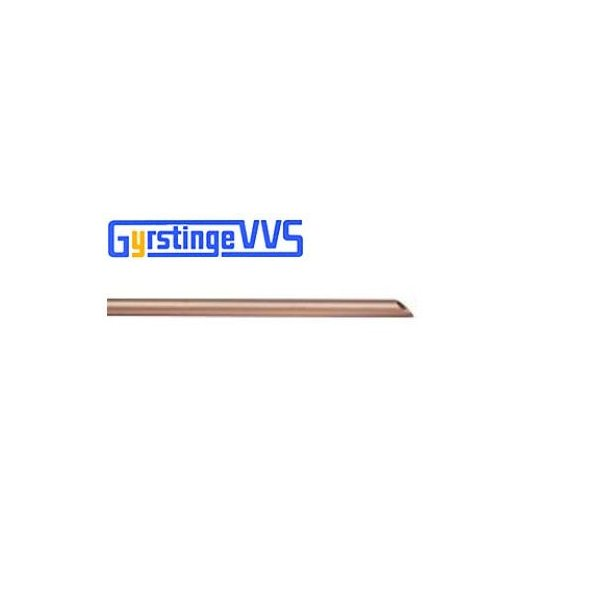 Kobberrør hård, 15-1,0 mm - 5 m