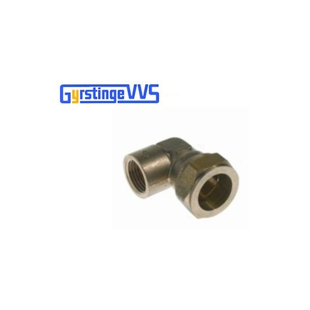 Conex vinkel m/muffe 22 mm - 1/2