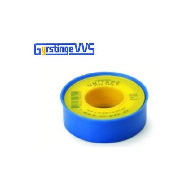 Pakningstape 12 mm x 12 meter X 0,075 mm